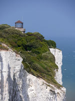 White Cliffs of Dover with lighthouse