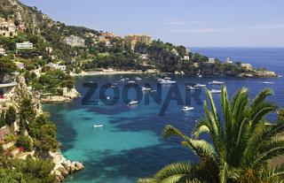 Malerische Bucht am Mittelmeer bei Cap-d'Ail