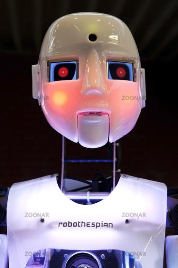 The humanoid robot RoboThespian at DASA, Dortmund, North Rhine Westphalia, Germany, Europe