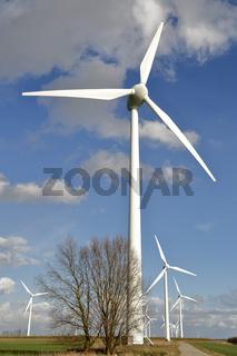 Windkraftanlage in Emden Wybelsum