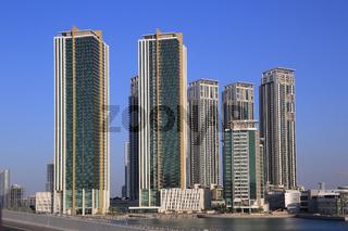 Abu Dhabi, Skyline bei Al Reem Island mit Tala Tower