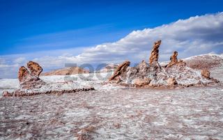 Las tres Marias landmark in Valle de la Luna, San Pedro de Atacama, Chile