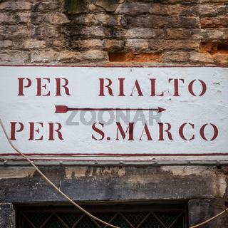 Venice street sign