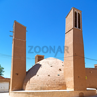in iran   yazd  the old  wind tower