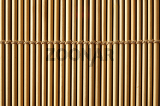 Bamboo mat close up