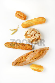Various types of fresh bread