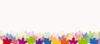 Ahornblätter in verschidene Farben
