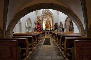 Pfarrkirche zum heiligen  Peter und Paul in Weitra, Waldviertel, Niederösterreich, Österreich, Europa / parish church in Weitra, Waldviertel Region, Lower Austria, Austria, Europe,