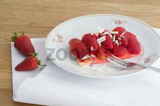 Erdbeerteller
