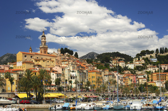 Old Town of Menton with St. Michel Church