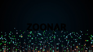 Abstract background with trail effect and particles