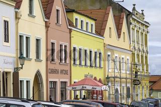 Horšovský Týn (deutsch Bischofteinitz)  Zentrum, Marktplatz, Tschechien