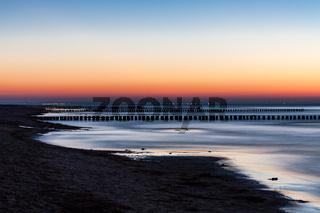 Abends an der Küste der Ostsee auf der Insel Poel