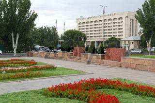 Borborduk Mechit Moschee hinter dem Hotel Dostuk, Bischkek, Kirgisistan