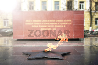 spring time eternal flame monument