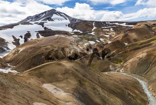 Mountain in Orange Hills Kerlingarfjoll Iceland