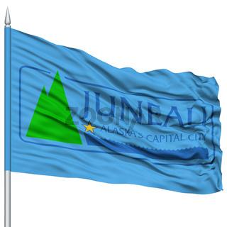 Juneau City Flag on Flagpole, USA