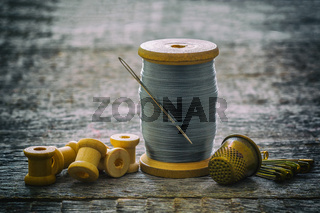 Sewing threads, coils