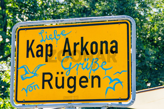 Road sign Cape Arkona