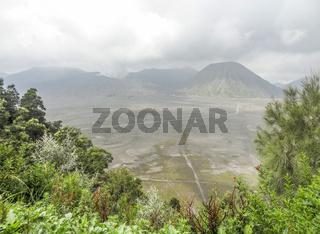 Landscape around Mount Bromo in Java