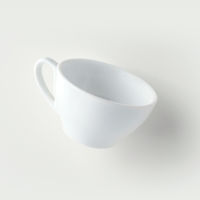 Front view of float empty cup on white background for mockup