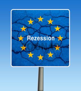 symbol of credit crisis in EU