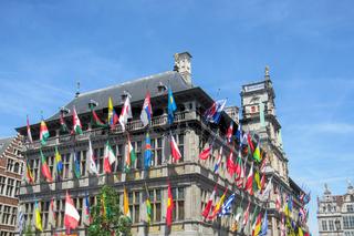 Rathaus von Antwerpen, Belgien