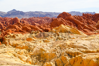 Rainbow Rocks in the Valley of Fire