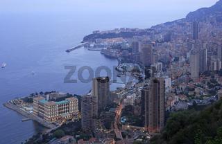 Blick über das abendliche Monte Carlo
