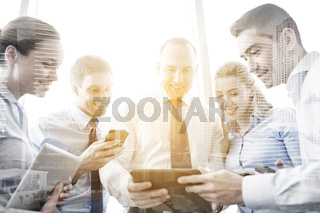 business people with tablet pc and smartphones