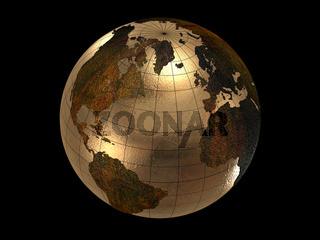 3d glossy earth