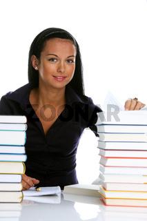 Junge Frau mit Büchern