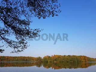 Herbstfarben am Liepnitzsee bei Wandlitz