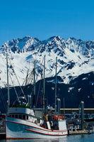 Boat in Harbor of Seward Alaska