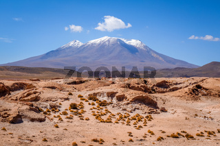 Mountains and desert landscape in sud lipez, Bolivia