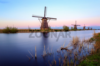 Windmills of Kinderdijk near Rotterdam