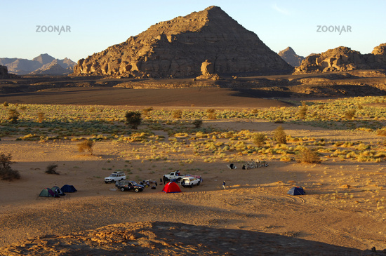 Camp site in the in the Acacus Mountains