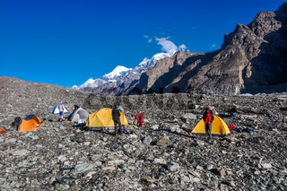 Tents of hikers