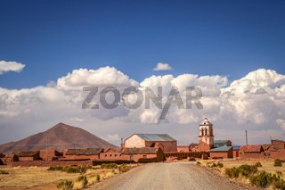 Small bolivian town
