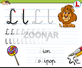 how to write letter l