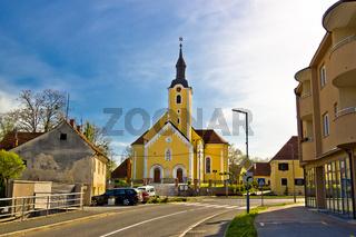 Town of Ivanec church view, Zagorje region of Croatia