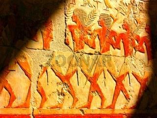 Relief im Hatschepsut Tempel