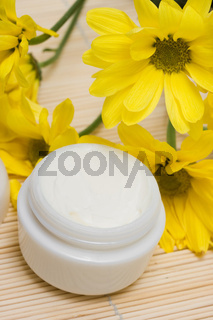 cosmetic moisturizing cream with chamomiles