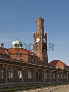 Historischer Hafenbahnhof in Cuxhaven