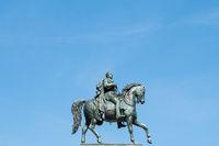 man on horse, horseman statue isolated . frederick wilhelm