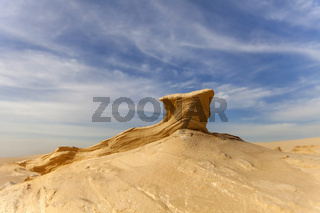 Sand stone in the desert with shallow depth of field