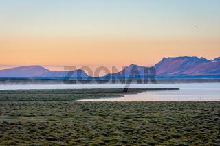 Song Kul lake in sunrise, Kyrgyzstan