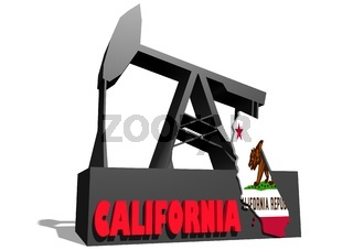 Oil pump and California map