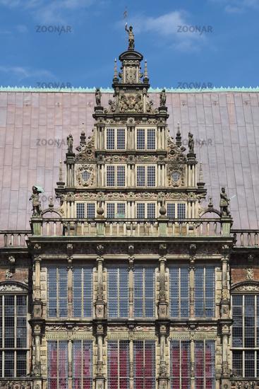 Bremen - Town Hall gable, Weser Renaissance, Germany