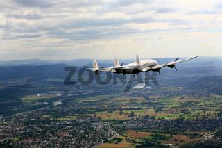 Flugzeugoldtimer Super Constellation HB-RSC, Rheinfelden